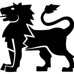 Heraldic Lion Vector - Free vector #213433