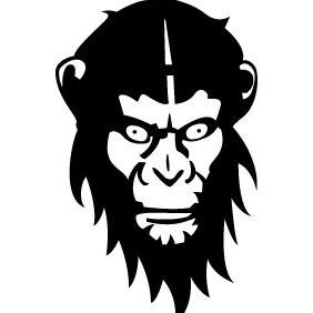 Monkey Vector - Free vector #213443