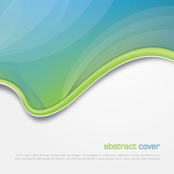 Abstract Cover Template - Free vector #213533
