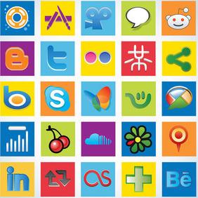 Social Media Logos - Kostenloses vector #213583