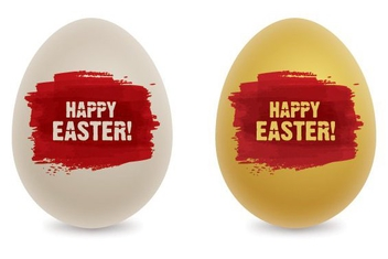 Coloring Easter Eggs - Free vector #213933