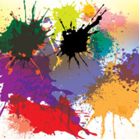 26 Jul Splashed Designs In Colored Vector - vector gratuit #213963