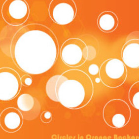 Circles In Orange Background Vector Graphic - Free vector #213993