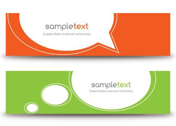 Minimal Banners - Free vector #214003