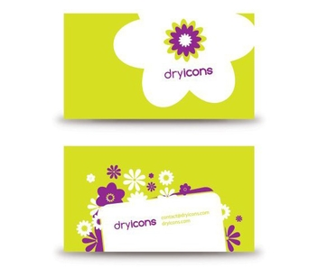 Flowery Business Card - vector #214083 gratis