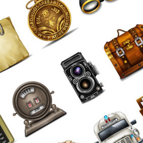 50 Exclusive Vintage Web Icons For FREE! - Free vector #214163