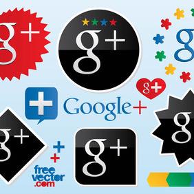 Google Plus Vector Logos - Kostenloses vector #214273