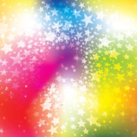 A Lot Of Stars In Colored Background - vector #214353 gratis