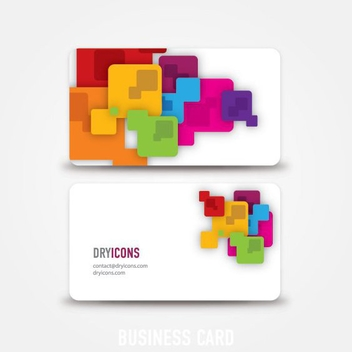 Abstract Business Card - vector gratuit #214563