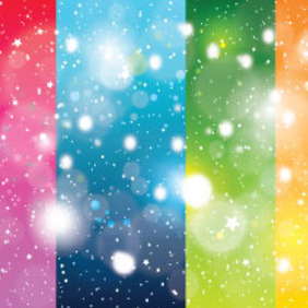 Four Colors Background With Shinning Stars - vector #214653 gratis