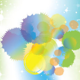 Colored Designs In Blue & Green Vector - vector gratuit #214953