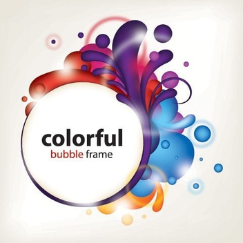 Colorful Bubble Frame - vector gratuit #215383