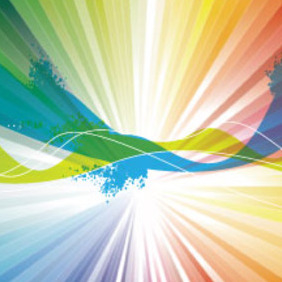 Colorful Abstract Rinbow Vector Design - Kostenloses vector #215403