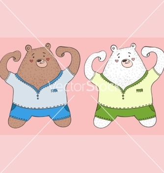 Free 2 bears vector - Free vector #215433