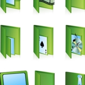 Different Folder Icons - vector gratuit #215483