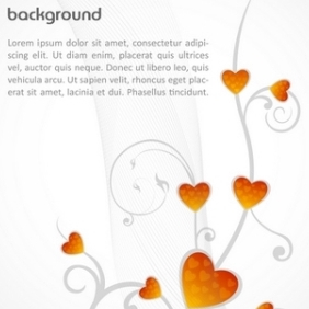 Vector Background With Hearts - Kostenloses vector #215503