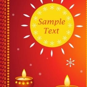 Diwali Card - vector gratuit #215533