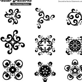 12 Decorative Free Vector Elements Edition 7 - vector #215593 gratis