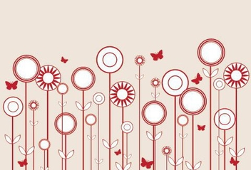 Stylized Flowers - vector #215693 gratis