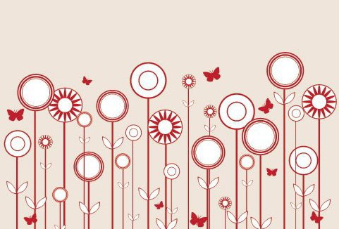 stilisierte Blumen - Free vector #215693