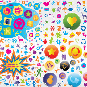 Vector Icons Pack - Kostenloses vector #215733