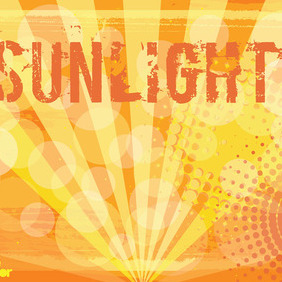 Sunlight Vector Background - vector gratuit #215783