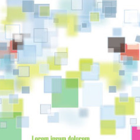 Blur Colored Squars Vector Art - Free vector #215833