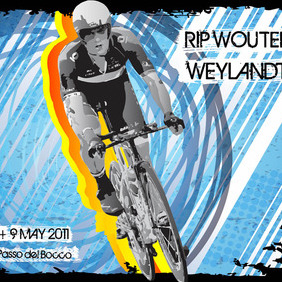 RIP Wouter Weylandt - бесплатный vector #215933