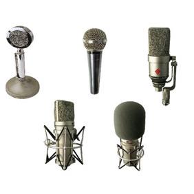 Vintage Retro Vector Microphones - бесплатный vector #215973