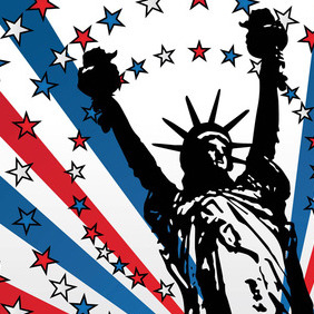 USA Liberty Vector - vector gratuit #216093