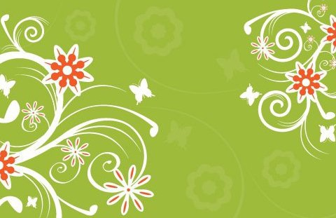 Flowers on Green - Free vector #216123