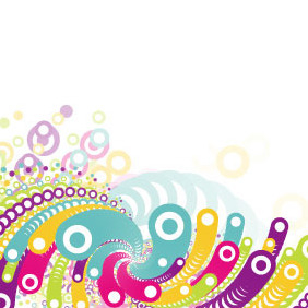 Colorful Circles Vector - vector #216363 gratis