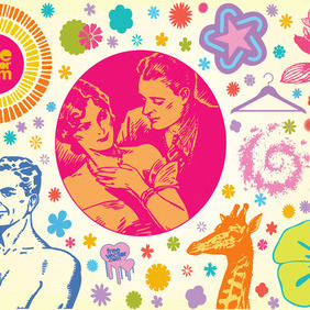 Cool Vintage Vector Graphics - Free vector #216413