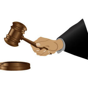 Judge's Hand Vector - Free vector #216423
