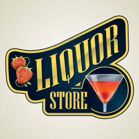 Liquor Store Logo - бесплатный vector #216443