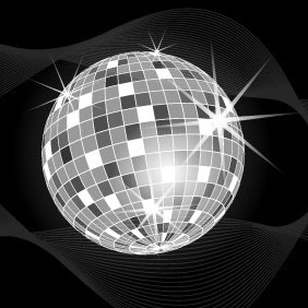 Disco Ball Vector Illustration - Free vector #216683