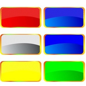 Colorful Banner Collection - vector gratuit #216793