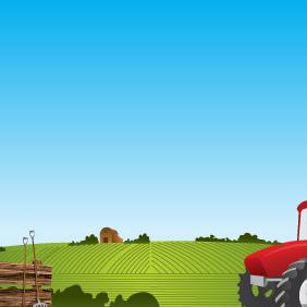 Farm Landscape - Free vector #217043
