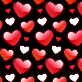 Shiny Valentines Heart Photoshop And Illustrator Pattern - Free vector #217183