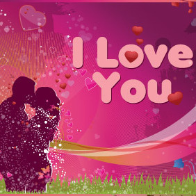 Lovers In Pink - vector gratuit #217323