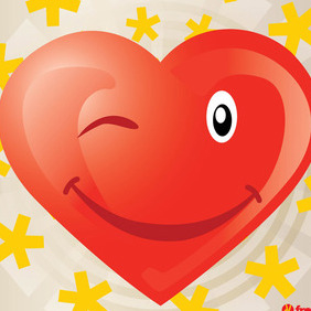 Heart Vector Cartoon - Kostenloses vector #217343