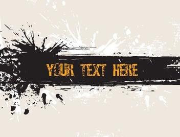 Grunge Banner - бесплатный vector #217373