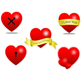 Heart Icons - vector gratuit #217403