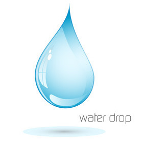 Water Drop Logotype - Free vector #217493