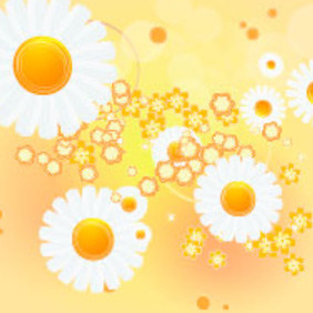 Flower In Orange Vector Background - Kostenloses vector #217553
