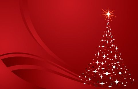 Arbre de Noël fond rouge - Free vector #217593