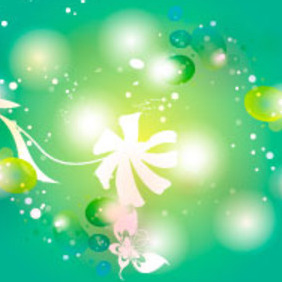 Floral Light Vector Background - Kostenloses vector #217633