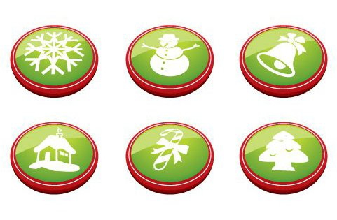 Christmas Buttons - Free vector #217653