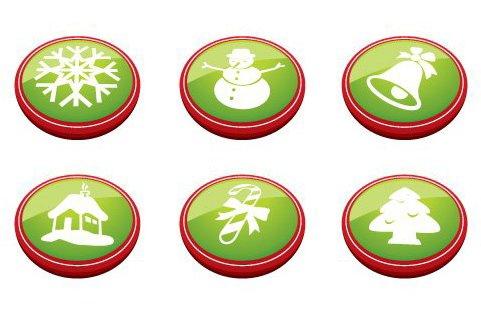 botones de Navidad - vector #217653 gratis