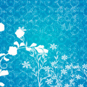 Floral Ornament Vector Background - Kostenloses vector #217663